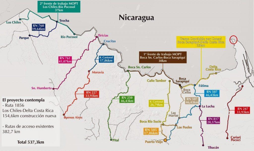 """Mapa de la """"trocha fronteriza"""""""
